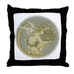 Art Nouveau Angel Throw Pillow