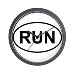 Run Runner Running Track Oval Wall Clock