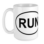 Run Runner Running Track Oval Large Mug