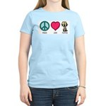 Peace Love & Labs Women's Pink T-Shirt