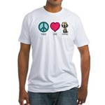 Peace Love & Labs Fitted T-Shirt