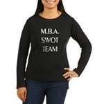 MBA SWOT Team Women's Long Sleeve Black T-Shirt