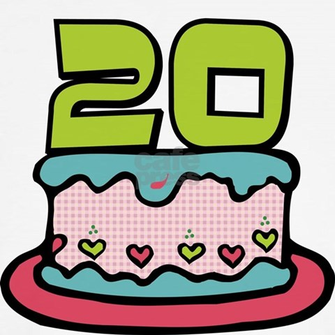 birthday cake 20 years old. 20 Year Old Birthday Cake