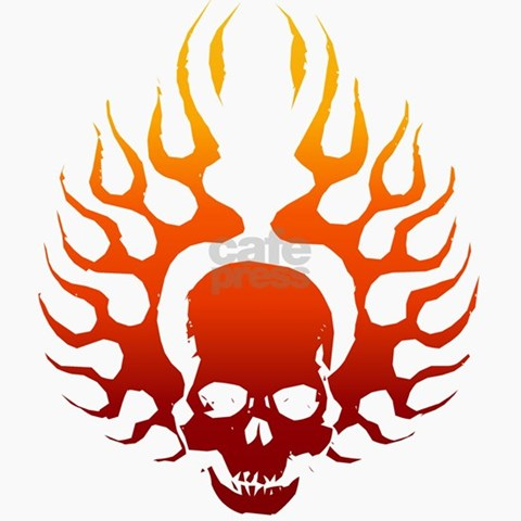cool date tattoos. Flaming Skull tattoo Keepsake