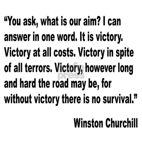 quotes on victory. Churchill Victory Quote Tile
