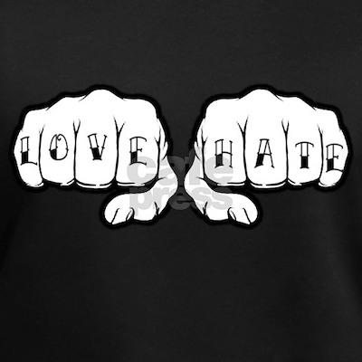 Love Hate Tattoo Fists Shirt