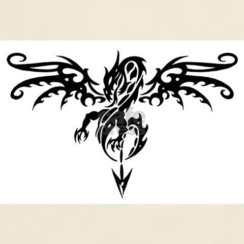 Tattoshirts on Tribal Dragon Tattoo Ash Grey T Shirt Designer Design Shirts
