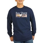 Bay Shore Long Sleeve Dark T-Shirt