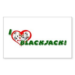 Blackjack Rectangle Sticker
