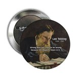 "Leo Tolstoy: True Philosophy 2.25"" Button (10 pack"