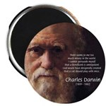 "Charles Darwin: God Creation 2.25"" Magnet (10 pack"