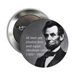 "Abraham Lincoln 2.25"" Button (100 pack)"