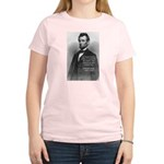 President Abraham Lincoln Women's Pink T-Shirt