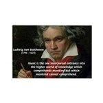 Classical Music: Beethoven Rectangle Magnet