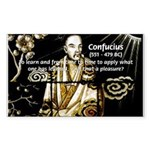 Confucius Rectangle Sticker