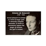 Simone De Beauvoir Rectangle Magnet (100 pack)