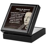 Simone De Beauvoir Keepsake Box
