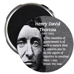 "Philosophy / Nature: Thoreau 2.25"" Magnet (100 pac"