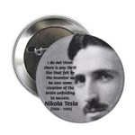 "Nikola Tesla 2.25"" Button (10 pack)"