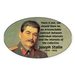 Joseph Stalin Oval Sticker