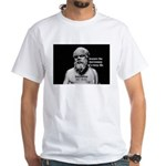 Socrates: Wisdom from Leisure White T-Shirt