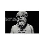 Wisdom of Socrates Rectangle Magnet (10 pack)