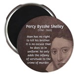 """Writer Percy Bysshe Shelley 2.25"""" Magnet (10 pack)"""
