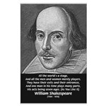 Playwright William Shakespeare Large Poster