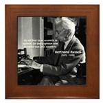 Russell: Logic and Opinion Framed Tile