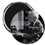 """Russell: Logic and Opinion 2.25"""" Magnet (100 pack)"""