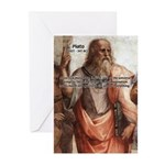 Music and Plato Greeting Cards (Pk of 10)