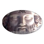 Plato: Wisdom Knowledge Play Oval Sticker