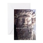 Plato: Humour Beer Wisdom Greeting Cards (Package