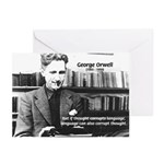 George Orwell: Language Thought Greeting Cards (Pa
