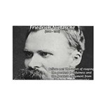 Nietzsche: Live Dangerously Rectangle Magnet (100