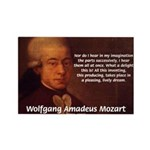 Mozart's Work: Symphony, Piano Rectangle Magnet