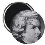 """Music, Genius and Mozart 2.25"""" Magnet (10 pack)"""