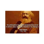 Power of Change Karl Marx Rectangle Magnet (10 pac