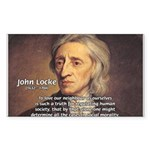 John Locke: Law of Love Rectangle Sticker
