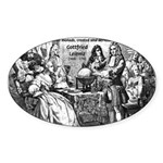 God Unity of All: Leibniz Oval Sticker