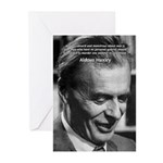 Humanist Aldous Huxley Greeting Cards (Package of
