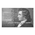 Power of Dreams: Goethe Rectangle Sticker