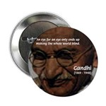 "Peace Activist Gandhi 2.25"" Button (100 pack)"