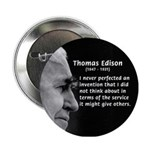 Inventor Thomas Edison Button