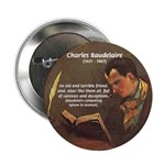 "French Poets Baudelaire 2.25"" Button (10 pack)"