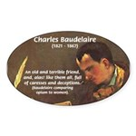 French Poets Baudelaire Oval Sticker