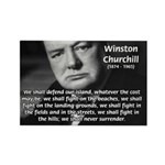 World War 2 Churchill Rectangle Magnet