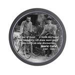 Marie & Pierre Curie Good Evil Wall Clock