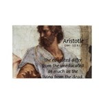 Aristotle Education Quote Rectangle Magnet (100 pa