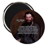 "Leo Tolstoy Religion Morality 2.25"" Magnet (10 pac"